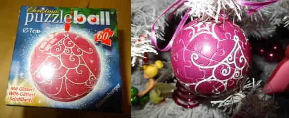 Tempos de Natal 2012 - bola puzzle da Ravensburger