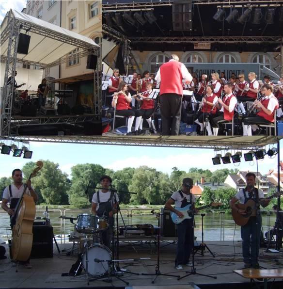 Regensburg Bürgerfest - pequenos palcos