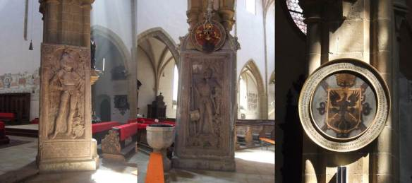Regensburg - Igreja Dominicana de St Blasius - epitáfios e brasoes