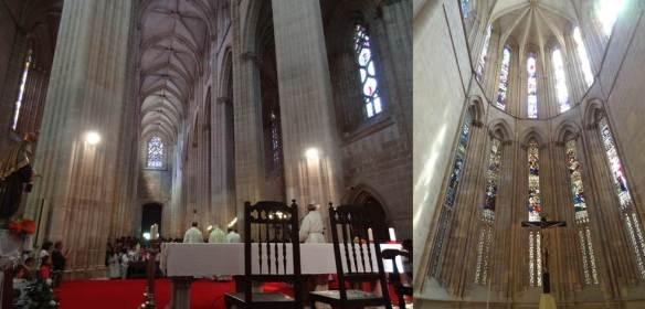 Batalha - Mosteiro da Batalha - a igreja a partir da capela Mor