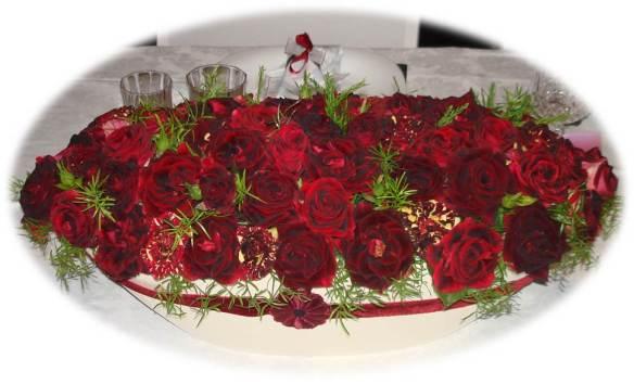 Bodas de Rubi - arranjo floral