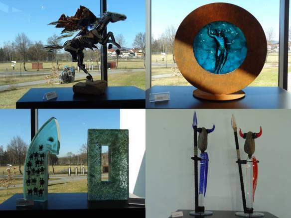 Frauenau - Museu do Cristal - peças modernas sala res-do-chao 2
