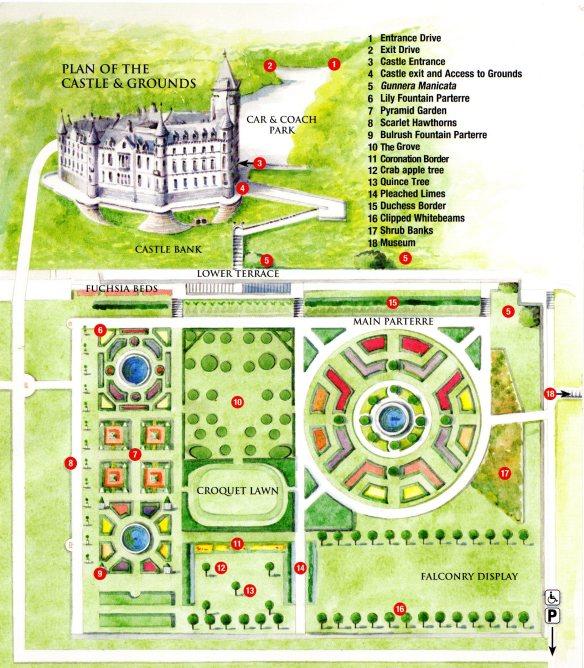 Dunrobin Castle plan
