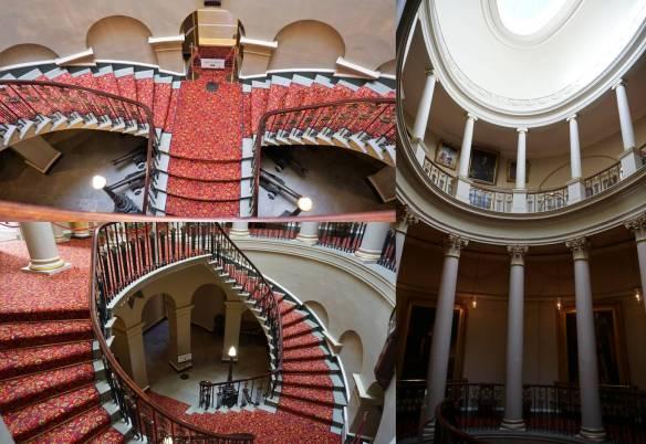 Castelo Culzean - escadaria interior